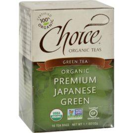 Choice Organic Teas Premium Japanese Green Tea – 16 Tea Bags – Case of 6