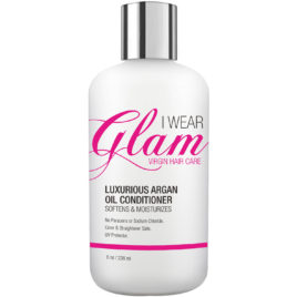 I Wear Glam Virgin Hair Care Luxurious Argan Oil Conditioner, 8 oz