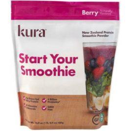 Kura Berry Protein Smoothie Powder, 16.9 oz