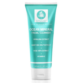 OZNaturals Facial Cleanser – This Natural Face Wash Is A Superior Cleanser That Deep Cleans & Unclogs Pores With Ocean Minerals, Vitamin E and Rose Hip Oil For That Healthy, Youthful Glow!
